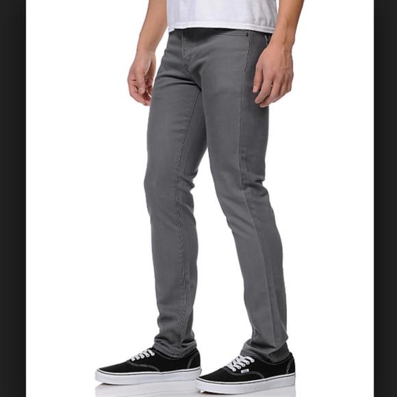 RVCA Other - RVCA Spanky Denim Slim Fit Gray Jeans Size 30 X 31